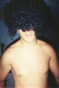 Nick gettin crazy with the fro