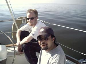 Billy & Gobi sailin