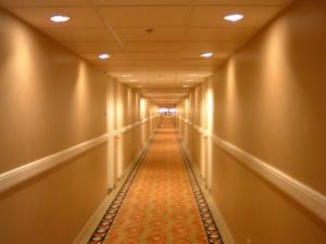 The 1/4 mile long hallway to our room