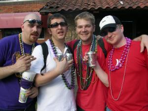 TJ, Mike, Paul, Me Mardi Gras '06