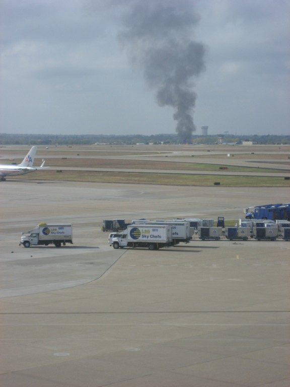 Airplane on fire in Dallas